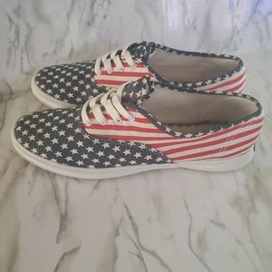 Keds USA Patriotic Canvas Sneakers 9